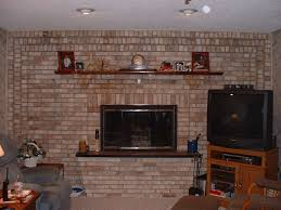 full wall brick fireplace makeover ideas wall decorating ideas pertaining to size 1600 x 1200