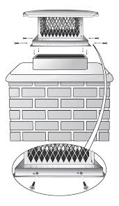 diamond mesh chimney cover
