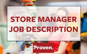 Retail Manager Job Description Custom The Perfect Store Manager Job Description Proven