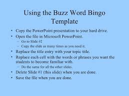 buzzword bingo generator buzzword bingo template