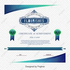 School Certificate Design Psd Green Certificate Template Png Free Download Vector Png