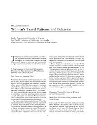 Patterns Of Behavior Awesome BREAKOUT SESSION Women S Travel Patterns And Behavior Women's
