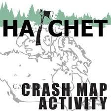 hatchet crash map activity by gary paulsen novel hatchet by gary paulsenlevel