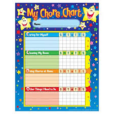 Childrens Stars Chore Job Charts With Sparkle Stickers