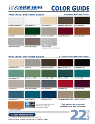 69 Efficient Union Metal Color Chart