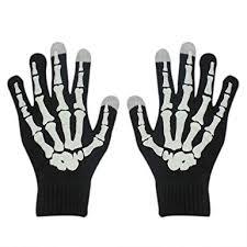 RARITY-US <b>Halloween Party Skeleton</b> Gloves <b>Skull</b> Fancy <b>Costume</b>