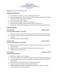 Floral Clerk Sample Resume Revival Clerk Sample Resume Tool Shalomhouseus 2
