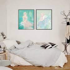 Großhandel Nordischen Stil Aquarell Cartoon Schöne Mädchen Hause
