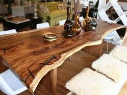 Trendy Dining Room Tables Cool Inspiring Exotic Design Of Rustic Live Edge Slab Wood Dining