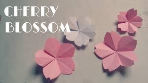 Easy Paper Origami Flower Origami Cherry Blossom Origami Easy