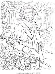 Beethoven in the Great Composers Coloring Book Review on The Music Blog great composers coloring book review lacie bowman music on beethoven worksheet