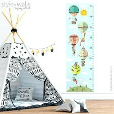 image 0 growth chart wall decal sticker tribal animals