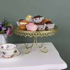 Teacup Display Stand Gold Metal Vintage Cake Display Stand Melody Maison 89