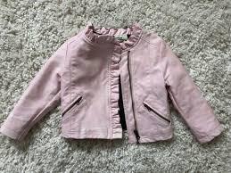 osh kosh genuine kids pink faux leather jacket 2t toddler girls