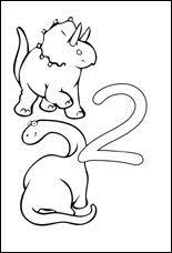 Small Picture Number Two Coloring Page Printable Numbers Activities