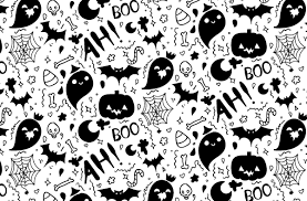 Halloween Pattern Fascinating Boofilled Hand Drawn Halloween Pattern Vector Vectips