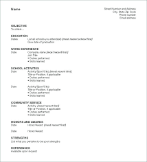 Resumes Formats Classy Pattern Of Resume For Job Format For Job Resume Best Resume Formats