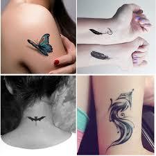 новые мультяшные маленькие трафареты для блестящих татуировок милые рисунки