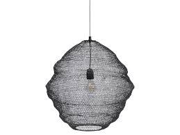 anzio woven black wire round pendant light