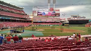 Great American Ball Park Section 128 Cincinnati Reds