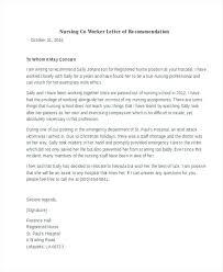 9 Letter Of Recommendation For Nursing School Free Download