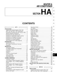 nissan maxima heater air condition section ha pdf 2003 nissan maxima heater air condition section ha 244 pages