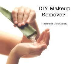 diy makeup remover dark circles gentle aloe almond oil beauty blog