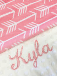Baby Boos Designs Arrow Blanket Personalized Baby Blanket Pink Arrow Baby