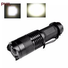 PHIL Đèn Pin Điện Thu Phóng Mini Chiếu Sáng Ngoài Trời Đèn Pin Cầm Tay Bánh  Răng Thứ Ba Điều Chỉnh 【Hot Sale】