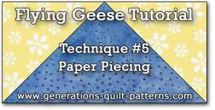 Flying Geese Quilt Block: Illustrated Step-by-Step Instructins in ... & Flying Geese, Technique #5, Paper piecing tutorial Adamdwight.com