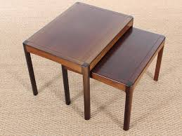 danish mid century modern nesting tables in rosewood