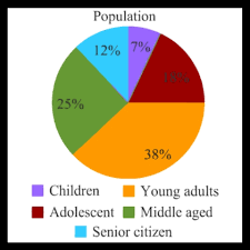 Pie Chart Of Population In India Skillful Population Of Usa Chart 2019
