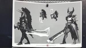 dota 2 hero concept art revealed legion commander is indeed a