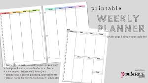 Weekly Planning Printable Weekly Planner Dr Punita Rice