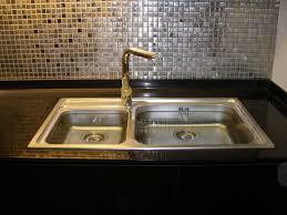 Mosaic Tiles In Kitchen Kitchen Fancy L Shape Kitchen Decoration Ideas Using Light Brown