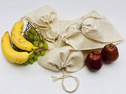 Cotton Muslin Bags, 100% Organic Cotton Single Drawstring ...