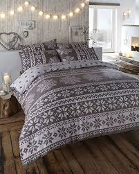100 brushed cotton grey king size duvet cover bed set co intended for king size