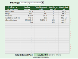 credit card payoff calculator excel debt reduction excel template plan to payoff debt fast debt