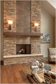 Unique Fireplace Wall On Unique Intended For Stone With Built 19