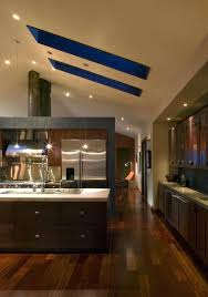 vaulted kitchen ceiling lighting. Exotic Vaulted Ceiling With Skylights Lighting Ideas Recessed Modern Home Open Kitchen \