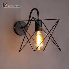 loft industrial iron cage. American Loft Industrial Wall Lamp Iron Cage Lights Bedroom Sconces Applique Murales Luminaire Arandela A