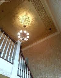 stencil chandelier wall art