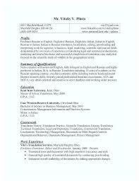 Sample Resume Translator Skills Interpreter Resume Blaisewashere Com