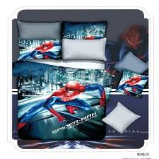 spiderman queen bed set cotton cartoon superman twin full queen king size 4 bedding sets