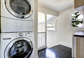 Brilliant study space design ideas Study Area Secondfloor Laundry Space Featuring Stacked Washer Set On The Hardwood Flooring Zacharyseligcom 60 Small Laundry Room Ideas photos
