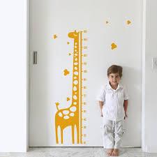 Growth Chart Sticker Giraffe Gerome Height Chart Wall Sticker Ruler Vinyl Decal Nursery Decor Kids Room Decor Modern Decal