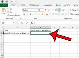 excel 2013 how to count characters in a cell 1