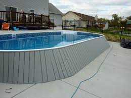 Image Inground Saltwater Home Design Ideas Uncategorized Round Above Ground Saltwater Pool With Clean