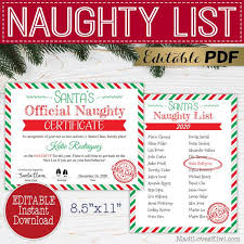 Download 13,255 certificate template free vectors. Printable Santa S Naughty List Certificate Editable Official North Pole Name Pdf Template Personalized Christmas Digital Download Reusable By Madi Loves Kiwi Printables Shop Catch My Party