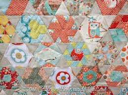 Week 11: New Hexagon Quilt Along: Blocks 51-52 and Finished Quilt ... & Thank you so much for joining me for the last 11 weeks on this quilt along.  I can't wait to get this one quilted. Lots of sample quilting and cottage  ... Adamdwight.com